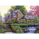 Puzzle  Ravensburger-15184 Romantic Cottage
