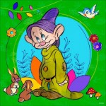 Puzzle  Ravensburger-15203 Disney - Dopey