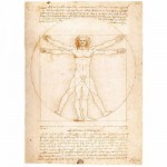 Ravensburger-15250 Jigsaw Puzzle - 1000 Pieces - Leonardo da Vinci : The Vitruvian Man