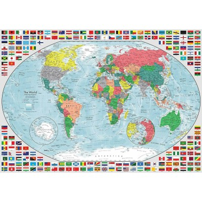 Puzzle Ravensburger-15253 Map of the World