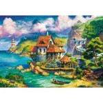 Puzzle  Ravensburger-15273 Cottage on the Cliff