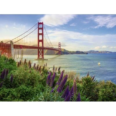 Puzzle Ravensburger-15289 Golden Gate Sunrise
