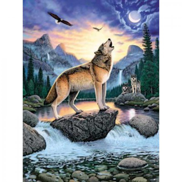 Jigsaw Puzzle - 1000 Pieces - Wolf's howl