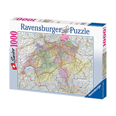 Ravensburger-15367 Jigsaw Puzzle - 1000 Pieces - Switzerland Map