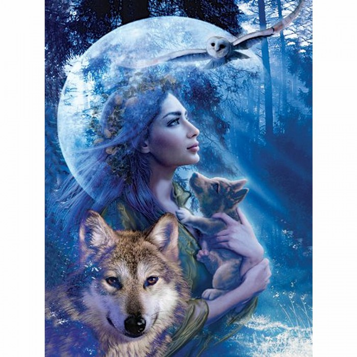 Jigsaw Puzzle - 1000 Pieces - Woman or Wolf