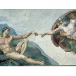 Ravensburger-15540 Jigsaw Puzzle - 1000 Pieces - Michelangelo : The Creation of Adam