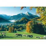 Ravensburger-15741 Jigsaw Puzzle - 1000 Pieces - Berchtesgaden in front of Watzmann