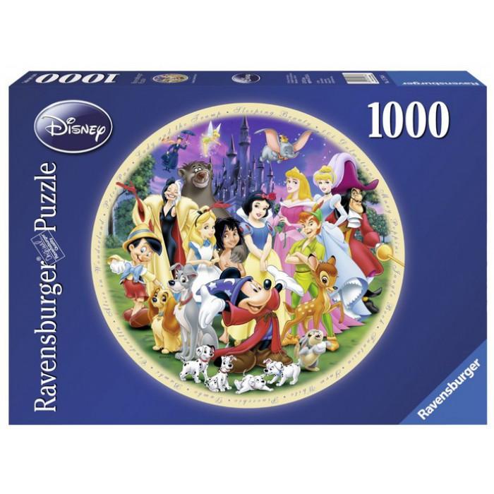 Jigsaw Puzzle - 1000 Pieces - Round - Disney's Marvellous World