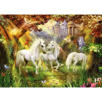 Puzzle Ravensburger-15992 Unicorns in the Forest