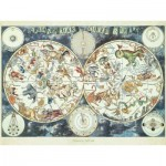 Puzzle  Ravensburger-16003 Fantastic Beasts World Map