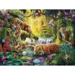 Puzzle  Ravensburger-16005 Idyll at the Water Hole
