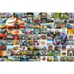 Puzzle  Ravensburger-16018 99 VW Campervan Moments