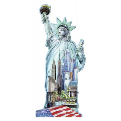 Ravensburger-16151 Silhouette Puzzle - Statue of Liberty