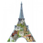 Ravensburger-16152 Silhouette Puzzle - Eiffel Tower