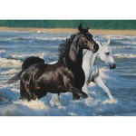 Ravensburger-16276 Jigsaw Puzzle - 1500 Pieces - Horses on the Beach