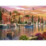 Puzzle  Ravensburger-16280 Dominic Davison: Mediterranean Port