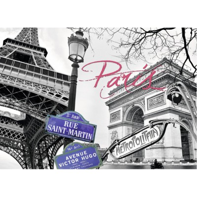 Puzzle Ravensburger-16296 My Paris