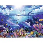 Puzzle  Ravensburger-16331 Lassen: Day of the Dolphins