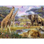 Puzzle  Ravensburger-16333 Colors of Africa