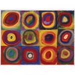 Ravensburger-16377 Jigsaw Puzzle - 1500 Pieces - Kandinsky : Squares with Concentric Rings