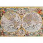 Ravensburger-16381 Jigsaw Puzzle - 1500 Pieces - Ancient World Map, 1594