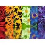Puzzle  Ravensburger-16446 Floral Reflections