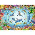 Puzzle  Ravensburger-16447 Fantastic Diving