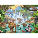 Puzzle  Ravensburger-16461 Waterfall in the Jungle