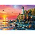 Puzzle  Ravensburger-16581 Lighthouse at Sunset