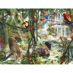 Ravensburger-16610 Jigsaw Puzzle - 2000 Pieces : Jungle Animals