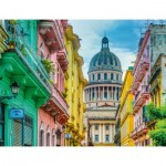 Puzzle  Ravensburger-16618 Colourful Cuba