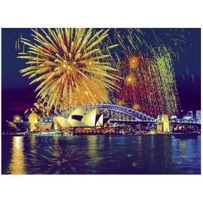 Puzzle Ravensburger-16622 Australia, fireworks on Sydney