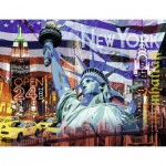Puzzle  Ravensburger-16687 New York Collage