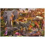 Ravensburger-17037 Jigsaw Puzzle - 3000 Pieces - African Animals