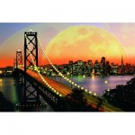 Ravensburger-17039 Jigsaw Puzzle - 3000 Pieces - San Francisco by Night