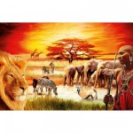 Ravensburger-17056 Jigsaw Puzzle - 3000 Pieces : Maasai's Proud