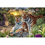 Puzzle  Ravensburger-17072 Hidden Tigers