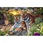 Puzzle  Ravensburger-17072 Hidden Tigers
