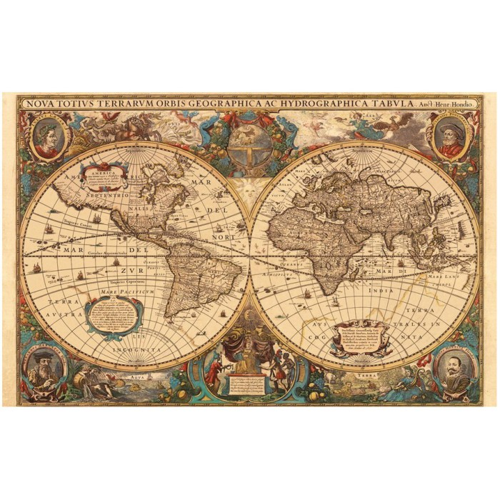 Jigsaw Puzzle - 5000 Pieces - Ancient World Map