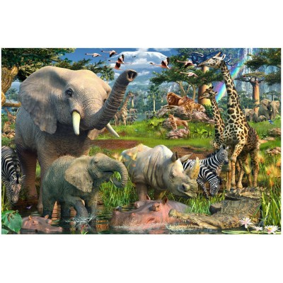 Ravensburger-17823 Jigsaw Puzzle - 18000 Pieces - At the Watering Hole