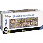 Puzzle  Ravensburger-17828 Disney Mickey - 90 Years