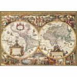 Ravensburger-19004 Jigsaw Puzzle - 1000 Pieces - Print Wood : Antic Map of the World