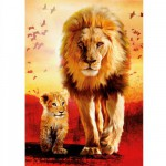 Ravensburger-19051 Jigsaw Puzzle - 1000 Pieces - Lions : First Steps
