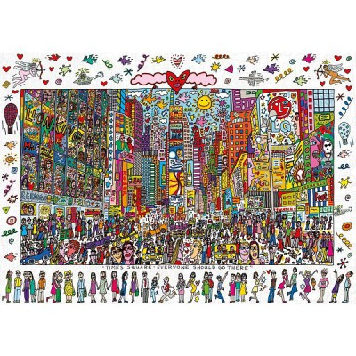 Ravensburger-19069 Jigsaw Puzzle - 1000 Pieces - James Rizzi - Times Square : Everyone Should Go There