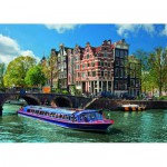 Puzzle  Ravensburger-19138 Netherlands, the Amsterdam canals