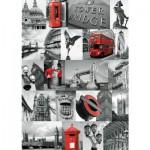 Puzzle  Ravensburger-19144 Londoner Collage