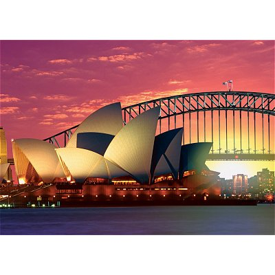 Ravensburger-19211 Jigsaw Puzzle - 1000 Pieces - Sydney : The Opera and Harbour Bridge