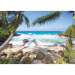 Ravensburger-19238 Jigsaw Puzzle - 1000 Pieces - Seychelles Beach