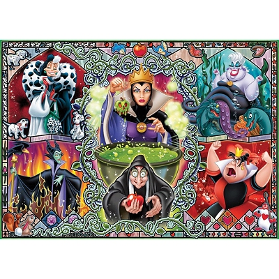 Ravensburger-19252 Jigsaw Puzzle - 1000 Pieces - Disney Witches