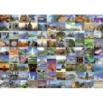 Puzzle  Ravensburger-19371 The 99 nicest localities on Earth
